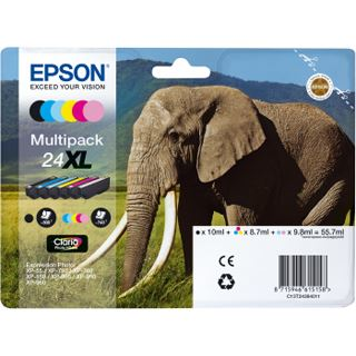 Epson Tinte 24 XL C13T24384011 cyan hell, magenta hell, gelb
