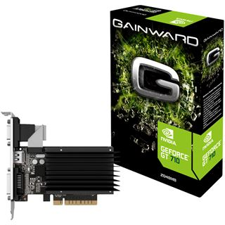 2GB Gainward GeForce GT 710 Silent FX Passiv PCIe 2.0 x 8 (Retail)