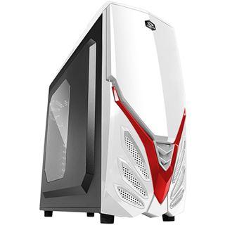 Raidmax Viper II mit Sichtfenster Midi Tower ohne Netzteil weiss/rot
