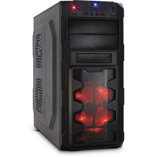 Inter-Tech GM-X02 Midi Tower ohne Netzteil schwarz/rot