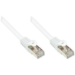 (€0,36*/1m) 25.00m Good Connections Cat. 5e Patchkabel SF/UTP RJ45 Stecker auf RJ45 Stecker Weiß PVC/Rastnasenschutz