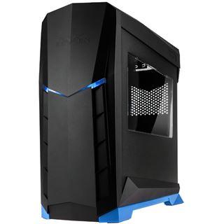 Silverstone RVX01 mit Sichtfenster Midi Tower ohne Netzteil schwarz/blau