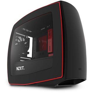 NZXT Manta mit Sichtfenster ITX Tower ohne Netzteil schwarz/rot