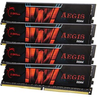 64GB G.Skill Aegis DDR4-2133 DIMM CL15 Quad Kit