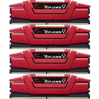 32GB G.Skill RipJaws V rot DDR4-3200 DIMM CL15 Quad Kit