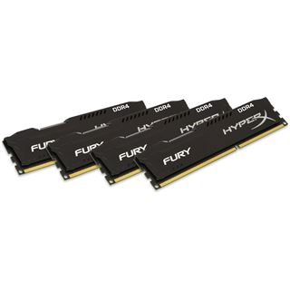 32GB HyperX FURY schwarz Single Rank DDR4-2400 DIMM CL15 Quad Kit