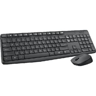 Logitech Wireless Desktop MK235 Deutsch 2.4 GHz grau