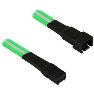 Nanoxia 3-Pin Molex Verlängerung - 30 cm, grün/weiß