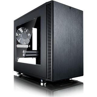 Fractal Design Define Nano S mit Sichtfenster gedämmt ITX Tower ohne Netzteil schwarz