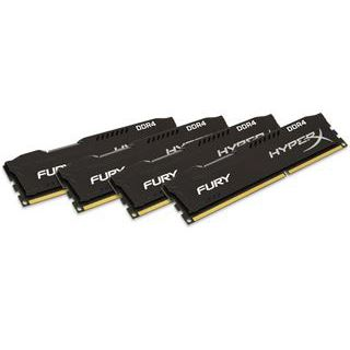 64GB HyperX FURY schwarz DDR4-2400 DIMM CL15 Quad Kit