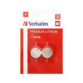 Verbatim Lithium Knopfzelle CR2016 2er Pack