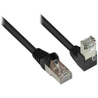 0.25m Good Connections Cat. 6 Patchkabel gewinkelt RJ45 Stecker auf RJ45 Stecker gewinkelt Schwarz