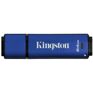 64 GB Kingston DataTraveler Vault Privacy 3.0 blau USB 3.0