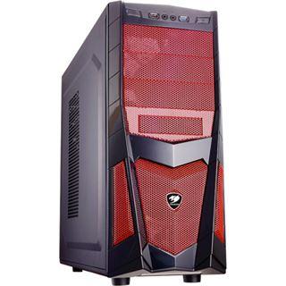 Cougar Volant 2 Midi Tower ohne Netzteil schwarz/rot