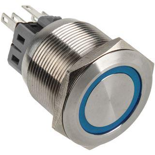DimasTech Vandalismustaster 25mm - Silverline - blau