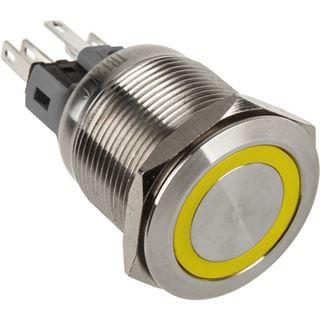 DimasTech Vandalismustaster 22mm - Silverline - gelb