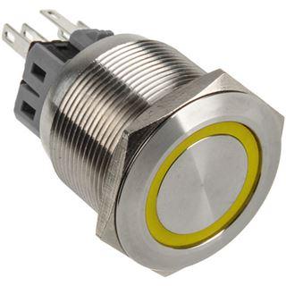DimasTech Vandalismustaster 25mm - Silverline - gelb