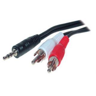 (€2,60*/1m) 1.50m ShiverPeaks Audio Anschlusskabel Basic-S 3.5mm Klinke Stecker Stereo auf 2xCinch Stecker Schwarz