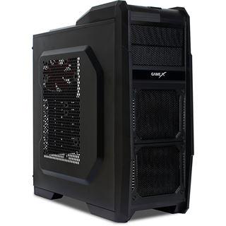 Rasurbo X6-U3 Midi Tower ohne Netzteil schwarz/blau