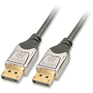 (€9,30*/1m) 3.00m Lindy Displayport Verbindungskabel Cromo Displayport Stecker auf Displayport Stecker Grau/Silber