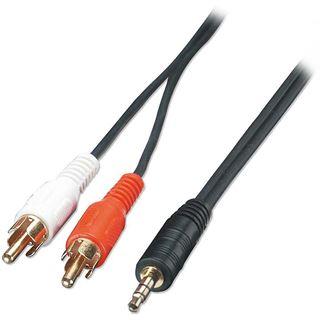 1.00m Lindy Audio-Adapterkabel, 2x Cinch Stecker an 3,5mm Klinke
