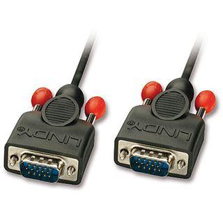 (€7,90*/1m) 1.00m Lindy VGA Anschlusskabel VGA 15pol Stecker auf VGA 15pol Stecker Schwarz doppelt geschirmt