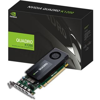 4GB PNY Quadro K1200 DP LP Aktiv PCIe 2.0 x16 (Retail)
