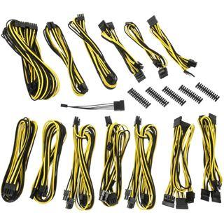 BitFenix Alchemy 2.0 PSU Cable Kit, SSC-Series - schwarz/gelb