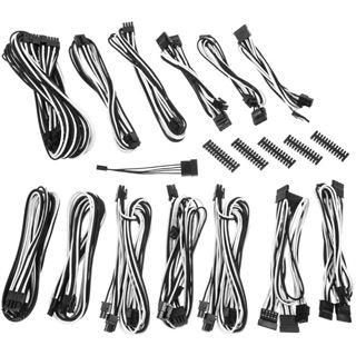 BitFenix Alchemy 2.0 PSU Cable Kit, SSC-Series - schwarz/weiß
