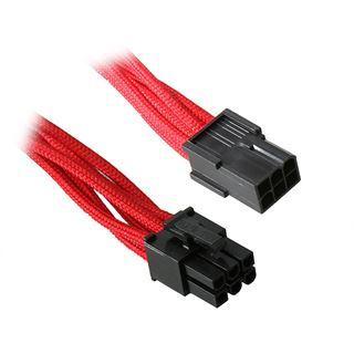 BitFenix 6-Pin PCIe Verlängerung 45cm - sleeved rot/schwarz
