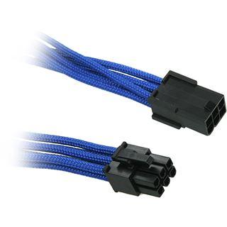 BitFenix 6-Pin PCIe Verlängerung 45cm - sleeved blau/schwarz