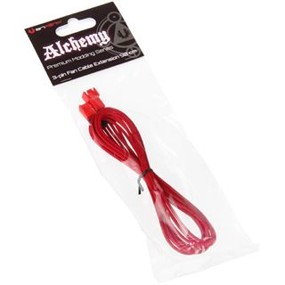 BitFenix 3-Pin Verlängerung 90cm - sleeved rot/rot