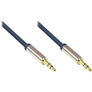 (€7,80*/1m) 0.50m Good Connections Audio Anschlusskabel 3.5mm Klinke Stecker 3polig auf 3.5mm Klinke Stecker 3polig Blau vergoldete Stecker