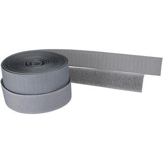 InLine Kabelbinder, Klettverschlussband 2-teilig, 25mm, grau, 3m