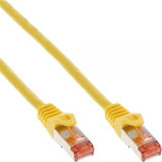 (€3,90*/1m) 1.00m InLine Cat. 6 Patchkabel S/FTP PiMF RJ45 Stecker auf RJ45 Stecker Gelb PVC