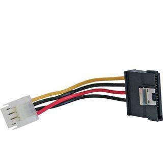 """® InLine SATA Stromadapterkabel, 1x 8,89cm (3,5"""") Buchse an 15pol SATA Stecker mit Lasche, 6cm"""