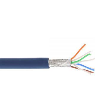 (€1,01*/1m) 100.00m InLine Cat. 6a Patchkabel S/FTP PiMF RJ45 Stecker auf RJ45 Stecker Blau halogenfrei