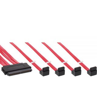 (€39,80*/1m) 0.50m InLine SAS 6Gb/s Adapterkabel gewinkelt