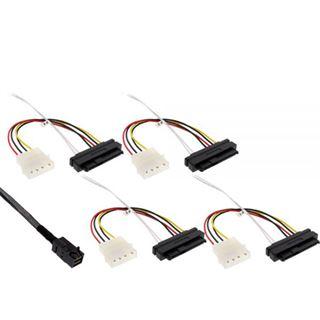 (€60,90*/1m) 1.00m InLine SAS 6Gb/s Anschlusskabel SFF-8643