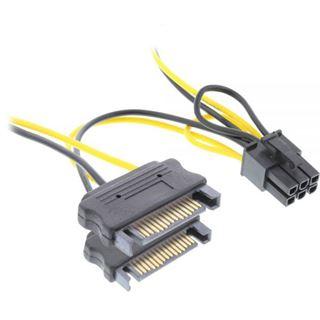 ® InLine Stromadapter intern, 2x SATA zu 6pol. für PCIe (PCI-Express) Grafikkarten, 0,15m