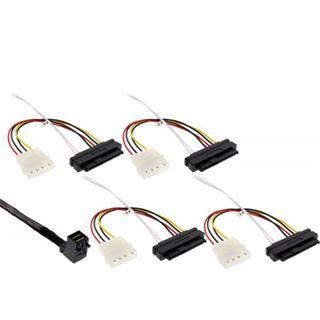 (€113,80*/1m) 0.50m InLine SAS 6Gb/s Anschlusskabel SFF-8643