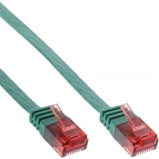 (€0,79*/1m) 10.00m InLine Cat. 6 Patchkabel flach U/UTP RJ45 Stecker auf RJ45 Stecker Grün
