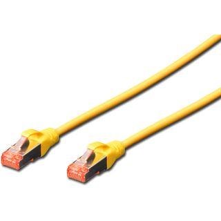 (€1,63*/1m) 3.00m Digitus Cat. 6 Patchkabel S/FTP RJ45 Stecker auf RJ45 Stecker Gelb mit Arretierung