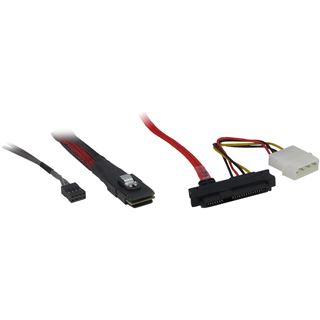 (€45,54*/1m) 0.50m Inter-Tech SAS Adapterkabel SFF-8087 Stecker