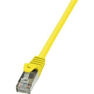 (€7,80*/1m) 0.50m LogiLink Cat. 5e Patchkabel SF/UTP RJ45 Stecker auf RJ45 Stecker Gelb