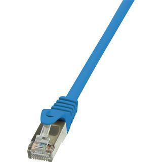 (€1,30*/1m) 3.00m LogiLink Cat. 5e Patchkabel F/UTP RJ45 Stecker auf RJ45 Stecker Blau
