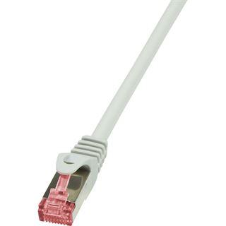 (€1,38*/1m) 5.00m LogiLink Cat. 6 Patchkabel S/FTP PiMF RJ45 Stecker auf RJ45 Stecker Grau