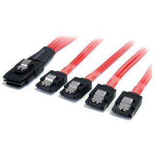(€73,80*/1m) 0.50m Startech SATA Anschlusskabel SFF-8087 Stecker
