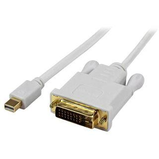 (€39,89*/1m) 0.90m Startech Adapterkabel aktiv DVI 24+1 Buchse auf Mini Displayport Buchse Schwarz vergoldet