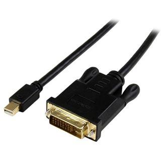 (€23,28*/1m) 1.80m Startech Adapterkabel Mini Displayport Stecker auf DVI 24+1 Stecker Schwarz